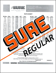 SURE Courier Regular Rate Sheet